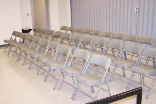 Auditorium style seating