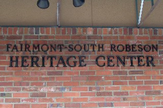 Heritage Center sign