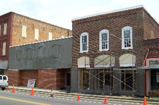 Stucco added to building
