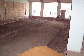 Floor before dirt is brought in