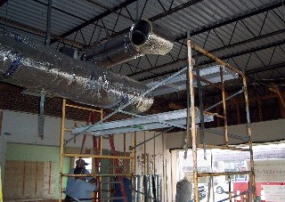 Duct work installed